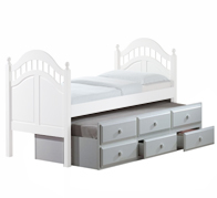 Caribbean Trundle Bed with Drawers