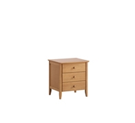 Barbican 3 Drawers Bedside table