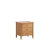 Milan 3 Drawers Bedside Table